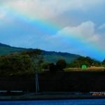 気仙沼にかかる虹